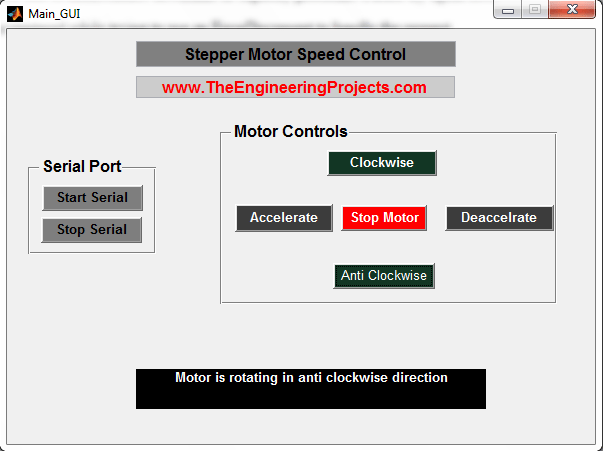 Stepper motor speed control using matlab, stepper motor speed control in matlab, Matlab to control the stepper motor speed, How to control speed of the stepper motor using Matlab, Stepper motor speed control with Matlab