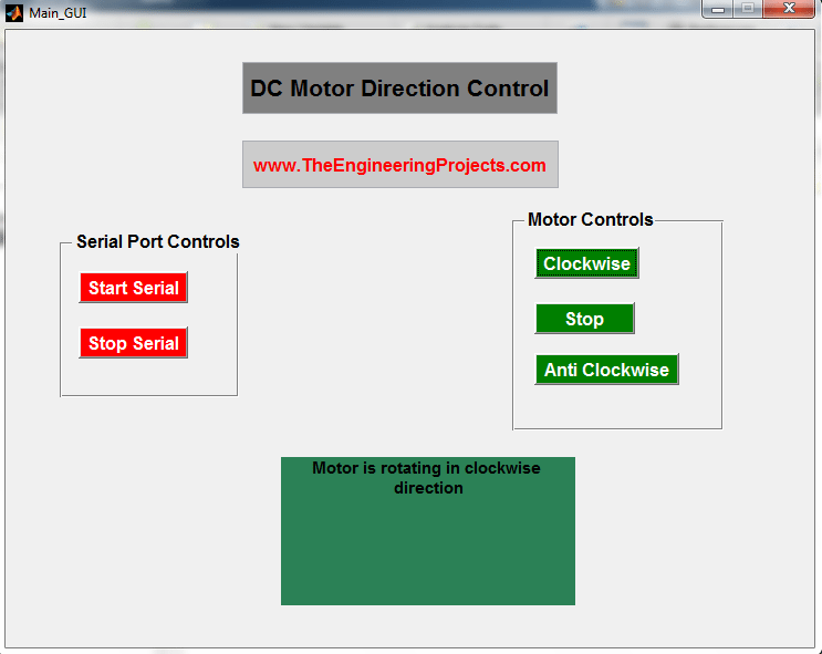 DC motor direction control using Matlab, DC motor control using Matlab, DC motor control through Matlab, Matlab to control DC motor, How to control DC motor with the Matlab