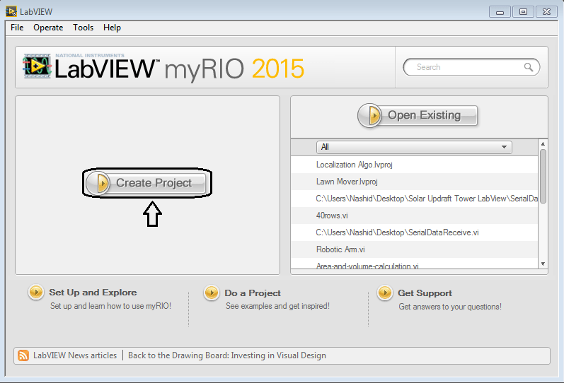 Creating First Program with myRIO, Creating First Program using myRIO, First Program with myRIO, myRIO programming, myRIO programming, programming with myRIO