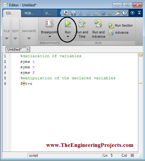 Creating m.file in MATLAB, How to Create m.file in MATLAB, Creating m.file using MATLAB, MATLAB to Create m.file, MATLAB create m.file.