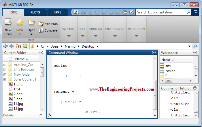 Calculating Values of trigonometric Functions in MATLAB, how to Calculate Values of trigonometric Functions in MATLAB, MATLAB to calculate values of trigonometric functions, MATLAB for calculating values of trigonometric functions, Using MATLAB calculate values of trigonometric functions.
