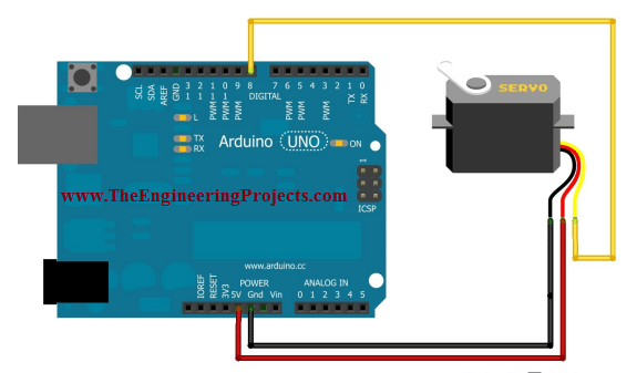 servo motor control using arduino