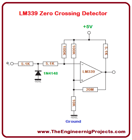 introduction to lm339 the engineering projects rh theengineeringprojects com  lm339 comparator circuit diagram