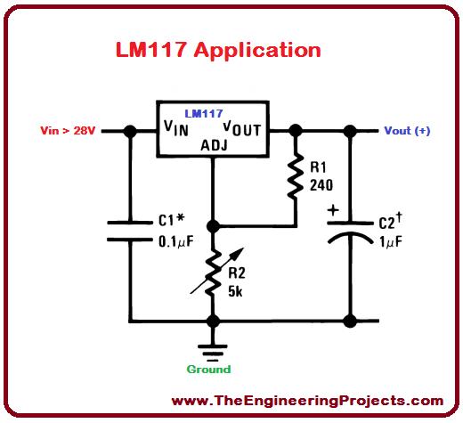 LM117 Pinout, basics of LM117, LM117 basics, getting started with LM117, how to get start with LM117, how to use LM117, proteus LM117, LM117 Proteus, LM117 Proteus sumulation