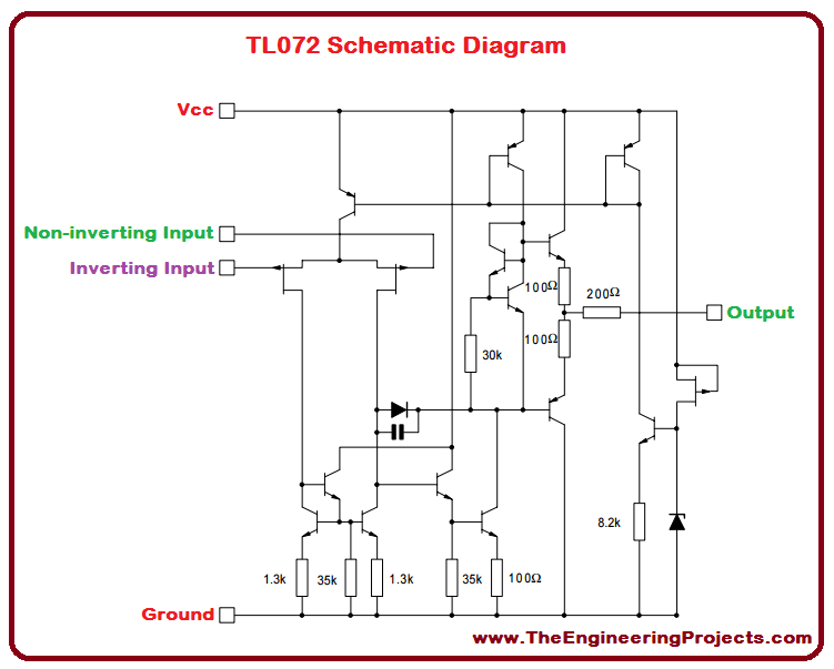 TL072_Pinout, Introduction to TL072, TL072 basics, basics of TL072, getting started with TL072, how to get start with TL072, TL072 proteus simulation, TL072 proteus, proteus simulation of TL072