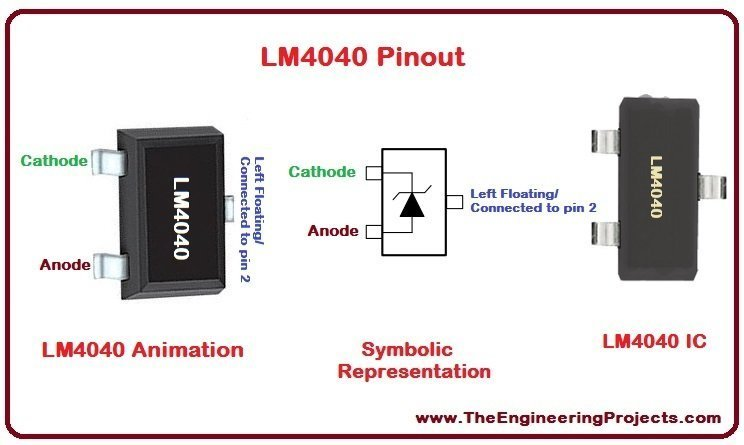 LM4040 Pinout, LM4040 basics, basics of LM4040, getting started with LM4040, how to get start LM4040, LM4040 proteus, Proteus LM4040, LM4040 Proteus simulation