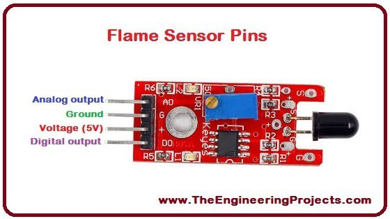 Flame Sensor Arduino Interfacing - The Engineering Projects