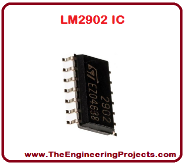 LM2902 Pinout, LM2902 basics, basics of LM2902, getting started with LM2902, how to get start LM2902, LM2902 proteus, Proteus LM2902, LM2902 Proteus simulation