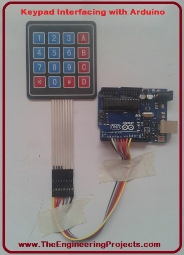 Arduino keypad, keypad arduino, Keypad interfacing with Arduino, how to interface keypad with Arduino, keypad interfacing using Arduino, interface keypad with Arduino, keypad interfacing with Arduino circuit diagram, Interfacing of keypad with Arduino