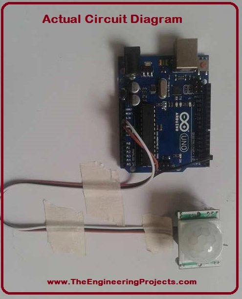 PIR Sensor Arduino Interfacing - The Engineering Projects
