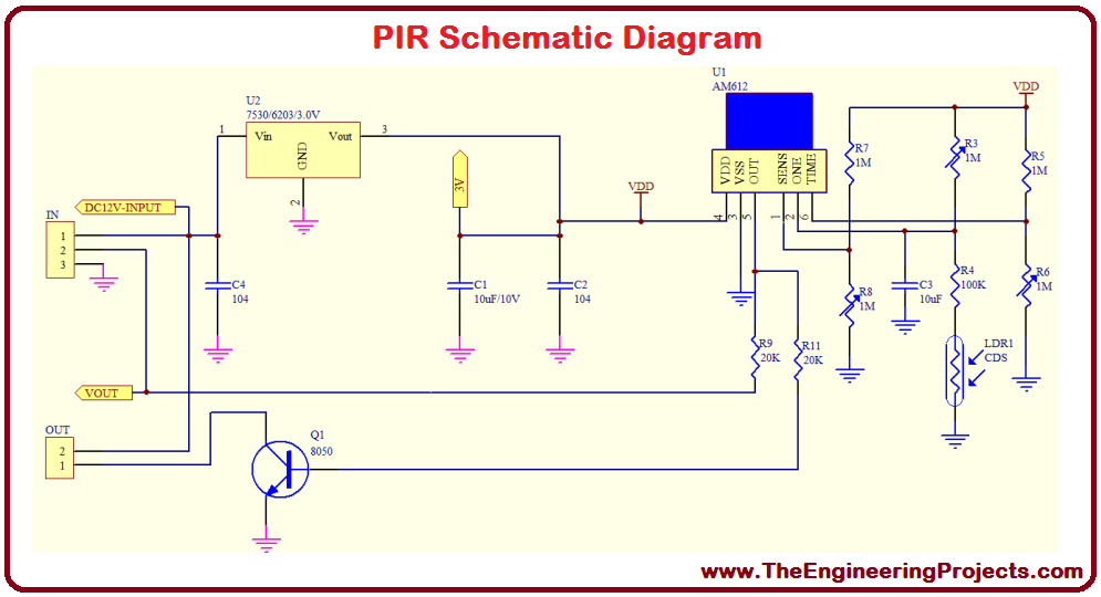 0 30v power supply circuit diagram pir sensor arduino interfacing - the engineering projects