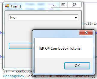 C# ComboBox Control