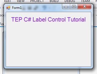 C# Label Control