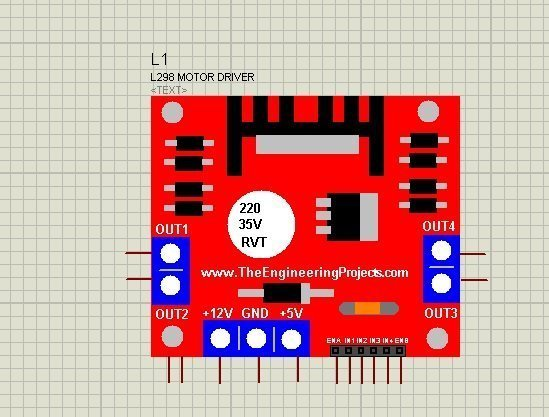 L298 Motor Driver Library for Proteus, l298 motor driver, l298 motor driver in proteus, l298 proteus