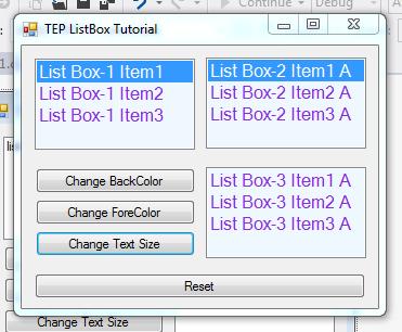 C# ListBox Control