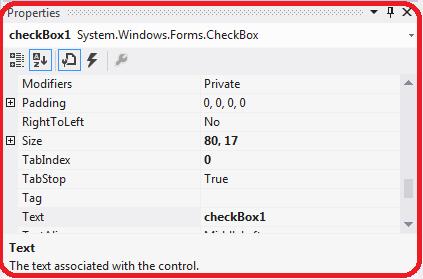 C# CheckBox Control