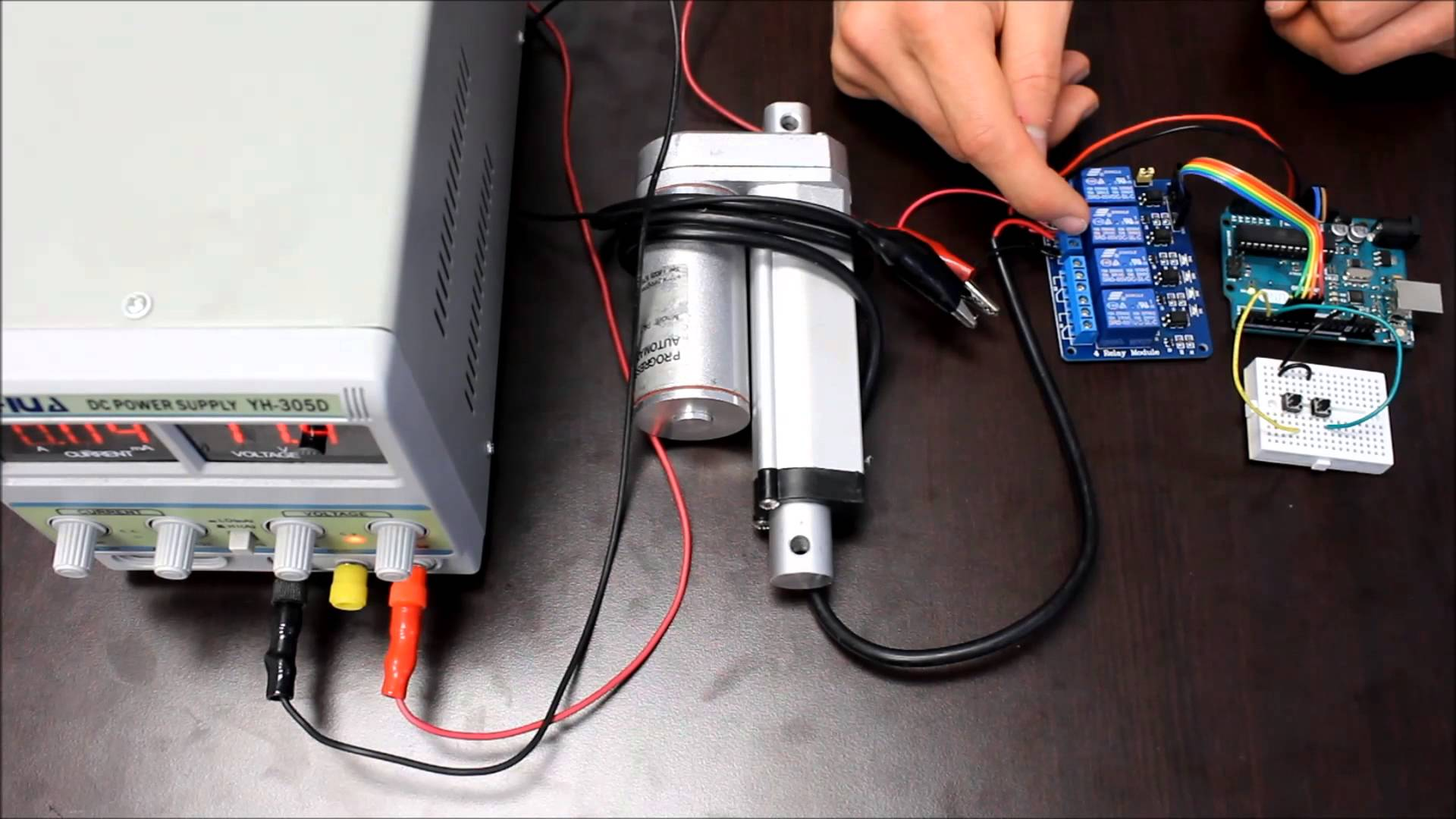 How To Use An Arduino With Linear Actuators The Engineering Projects Relay Module Wiring