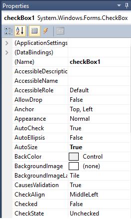 C# check box control, introduction to C# checkbox control, intro to checkbox control, basics of checkbox control