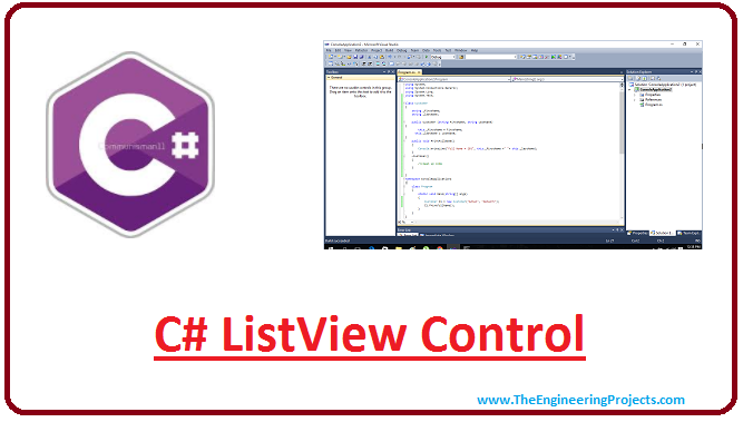 C# ListView Control - The Engineering Projects