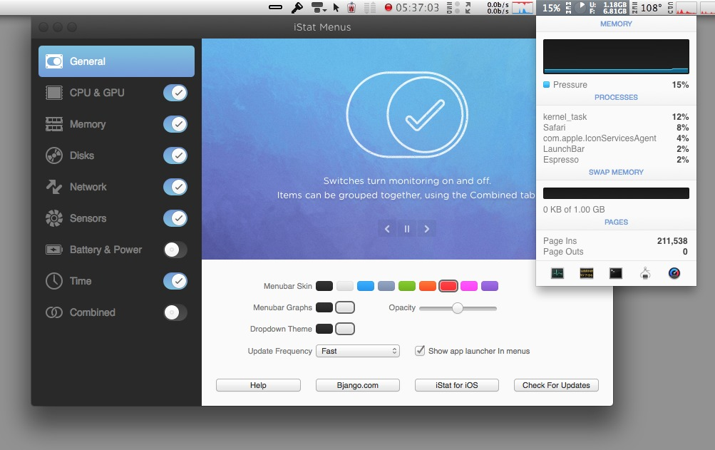 How to monitor your System on Mac with Istat,mac with istat