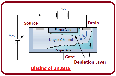 introduction to 2n3819, intro to 2n3819, working of 2n3819, basics of 2n3819
