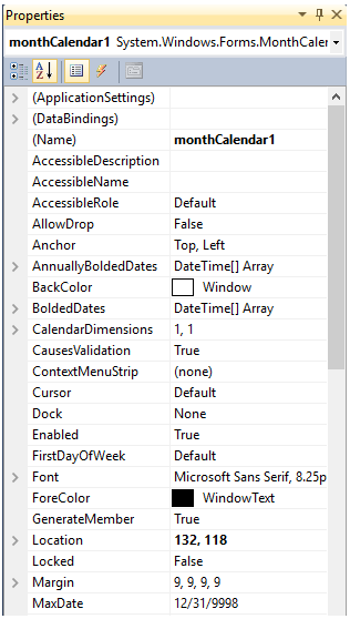 introduction to monthcalendar control, C# monthcalendar control, basics of C# monthcalendar control, intro to C# monthcalendar control,
