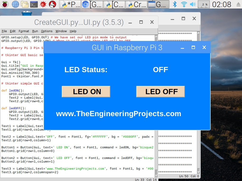 How to Create a GUI in Raspberry Pi 3, gui in pi 3, pi 3 gui, raspberry pi 3 gui, gui in raspberry pi 3, tkinter in python, tkinter pyhton, tkinter raspberry Pi 3