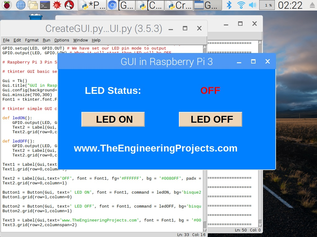 How to Create a GUI in Raspberry Pi 3 - The Engineering Projects