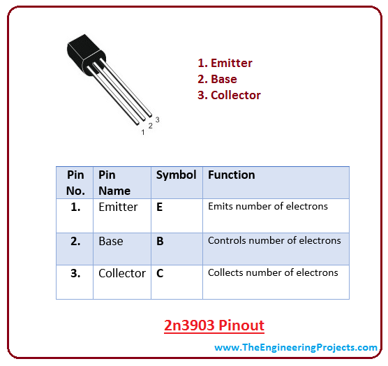 introduction to 2n3903, intro to 2n3903, basics of 2n3903, working of 2n3903, applications of 2n3903, pinout of 2n3903