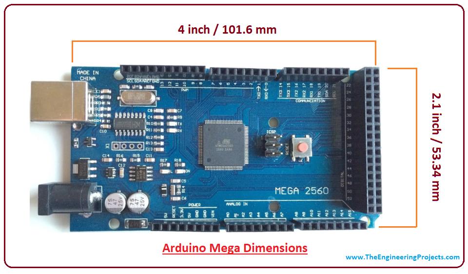 Introduction to arduino mega, intro to arduino mega, pin diagram of arduino mega, applications of arduino mega, arduino mega pinout, difference between Arduino mega and Arduino uno, arduino mega specifications