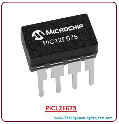introduction to pic12f675, pic12f675 pinout, pic12f675 features, pic12f675 block diagram, pic12f675 functions, pic12f675 applications