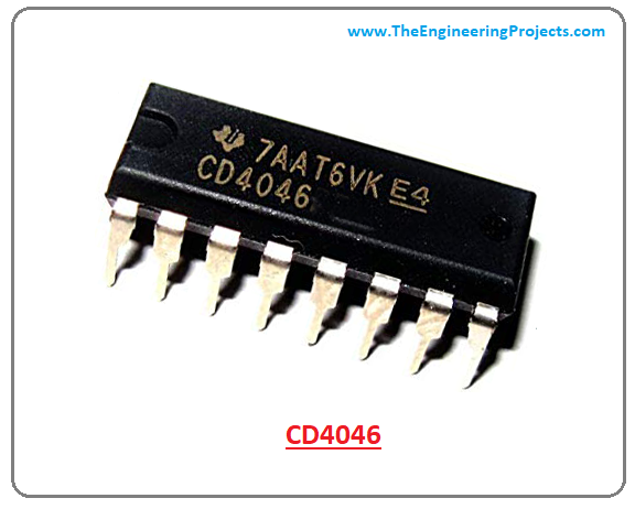 introduction to cd4046, working of cd4046, features of cd4046, applications of cd4046