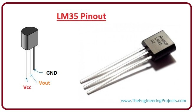 Lm35 pinout, lm35 working, lm35 introduction