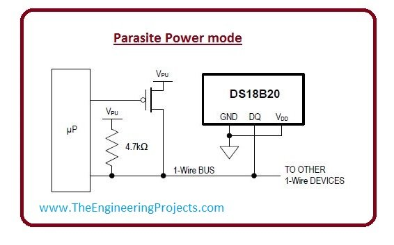 Parasite power mode ds18b20 Introduction, DS18B20 pin out,