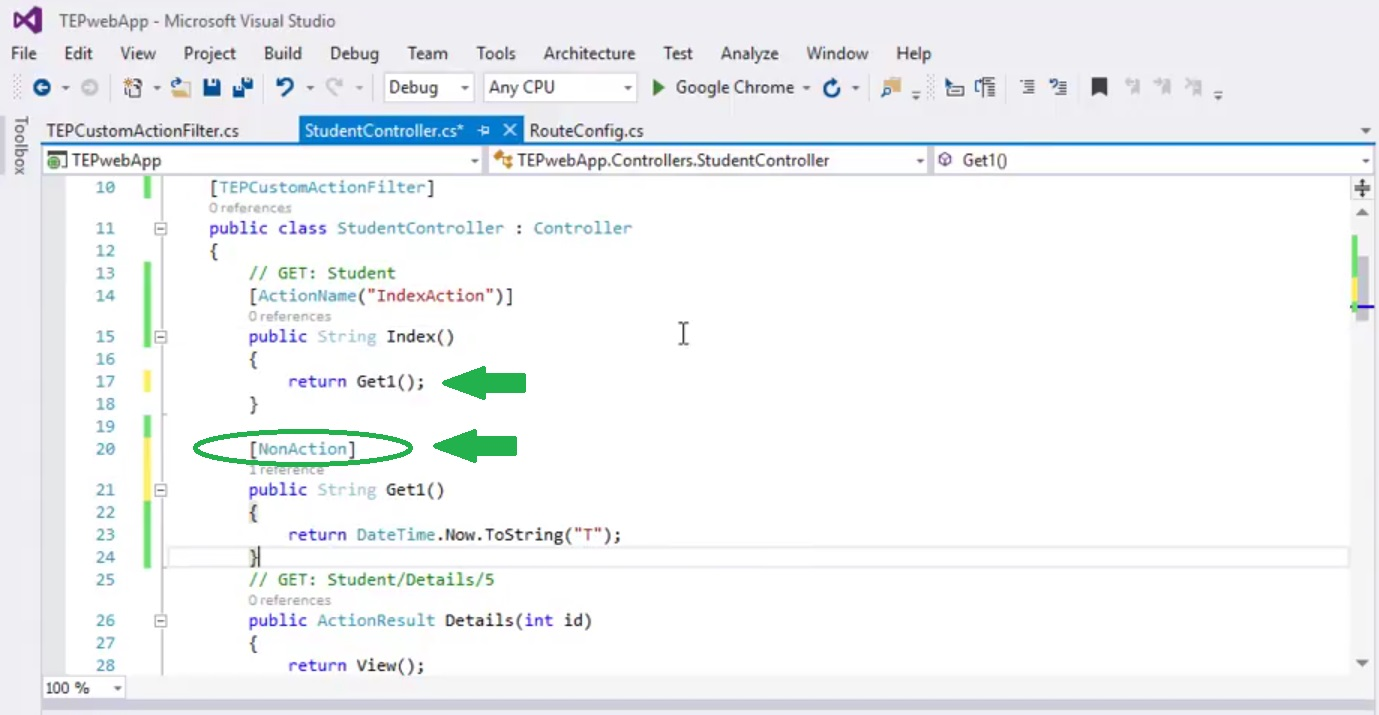 Action Selectors in ASP.NET MVC, selectors in asp, selectors in mvc, selectors in asp.net, nonaction selector in asp