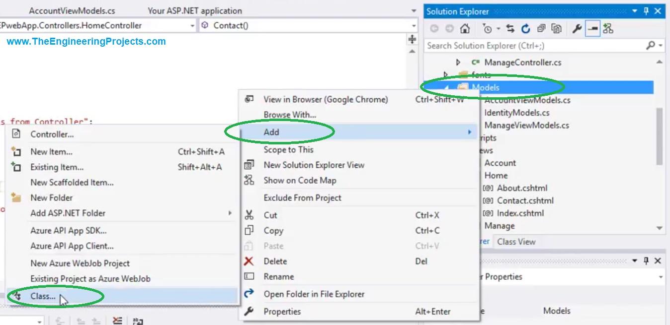 Create a New Model in ASP.NET MVC, new model in asp, add model in asp.net, add model in mvc