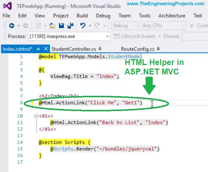 HTML Helpers in ASP NET MVC - The Engineering Projects