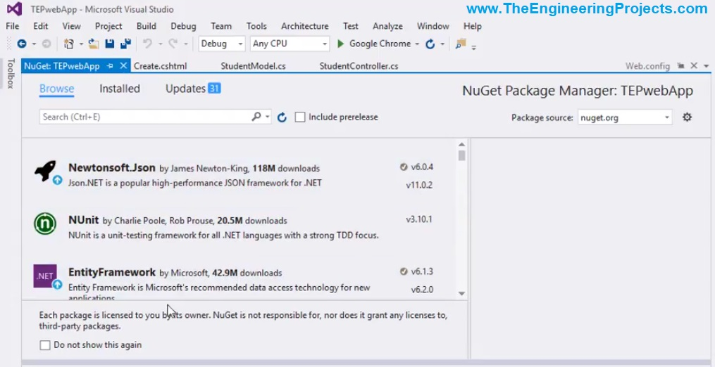NuGet Package Management in ASP.NET MVC,NuGet Package Management in ASP.NET, NuGet Package Management in MVC, NuGet Package Management in ASp,NuGet Package Management