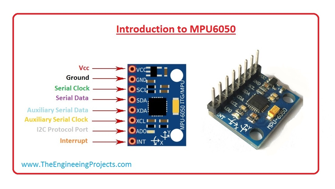 Introduction to MPU6050 - The Engineering Projects