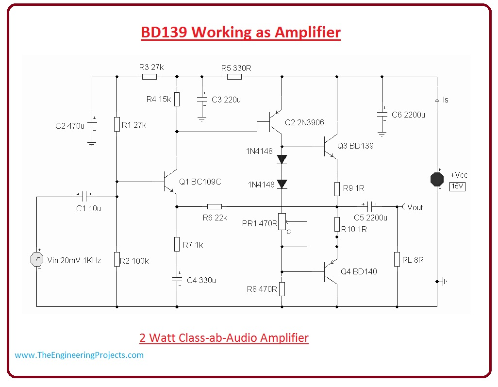 Audio Amplifier Circuit Diagrams