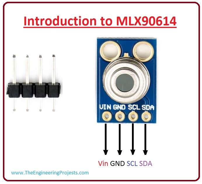 introduction to mlx90614, mlx90614 working, mlx90614 pinout, mlx90614 features, mlx90614 applications