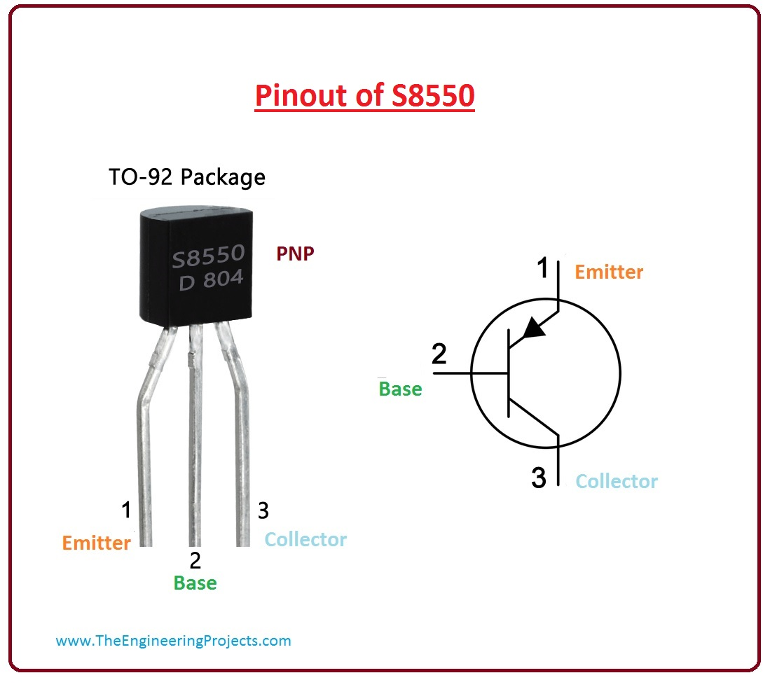 introduction to s8550, s8550 working,s8550 pinout, s8550 features, s8550 applications
