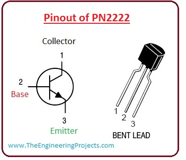 introduction to PN2222, pn2222 pinout, PN2222 working, PN2222 features, PN2222 applications