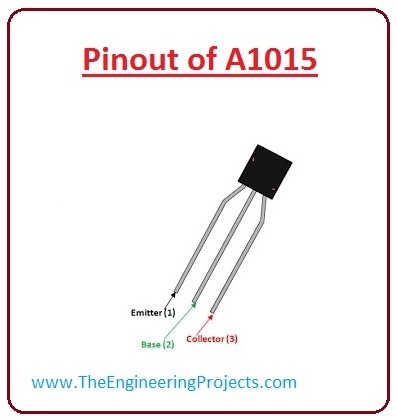 introduction to A1015, A1015 pinout, A1015 working, A1015 features, A1015 working, A1015 applications, A1015