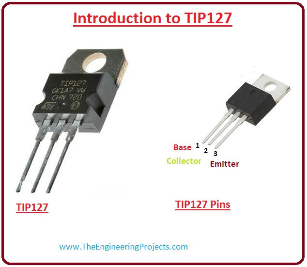 introduction to tip127, tip127 working, tip127 features, tip127 applications, tip127