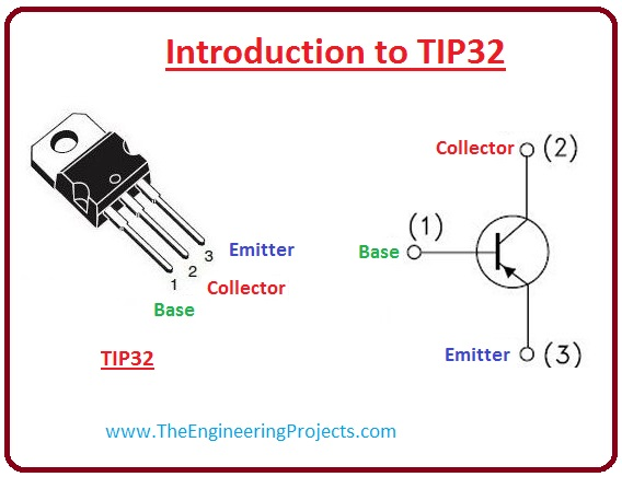 introduction to tip32, tip32 working, tip32 pinout, tip32 features, tip32 applications, tip32