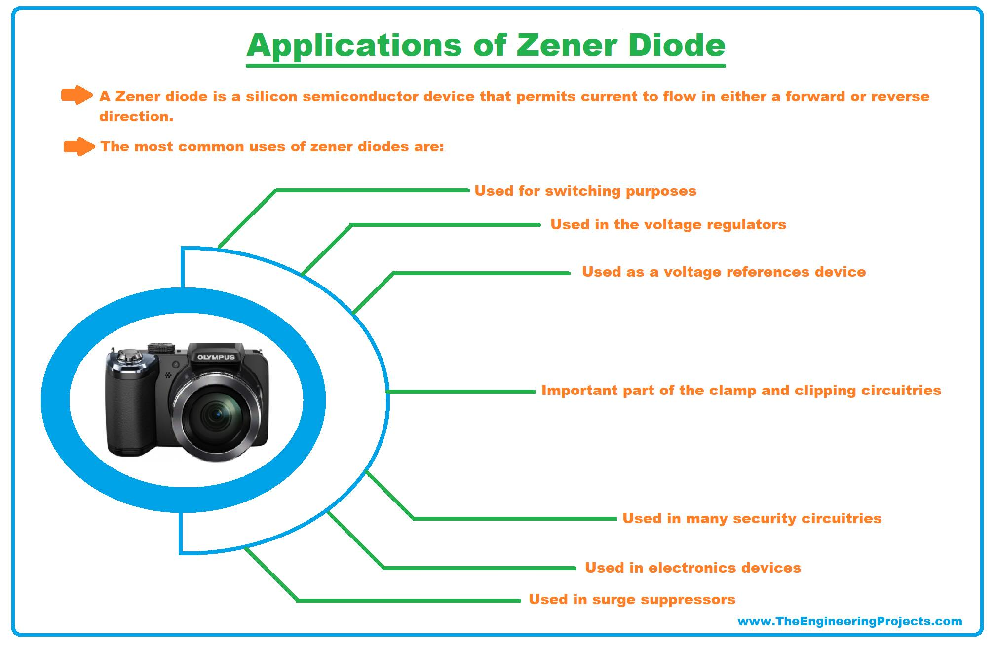 zener diode, what is zener diode, zener diode working, zener diode advantages, zener diode breakdown voltage, zener diode applications, zener diode characteristics