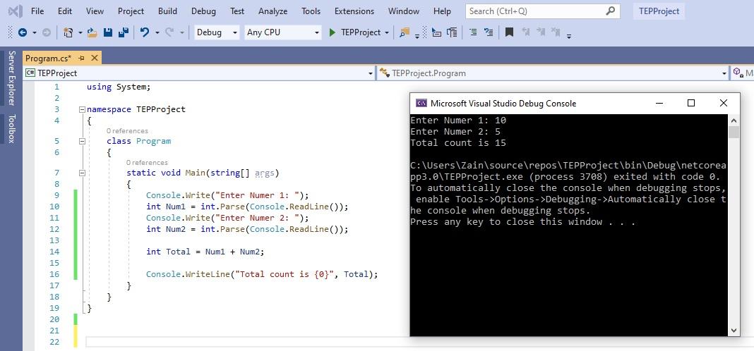 Common Operators in C#, arithmetic operator in c#