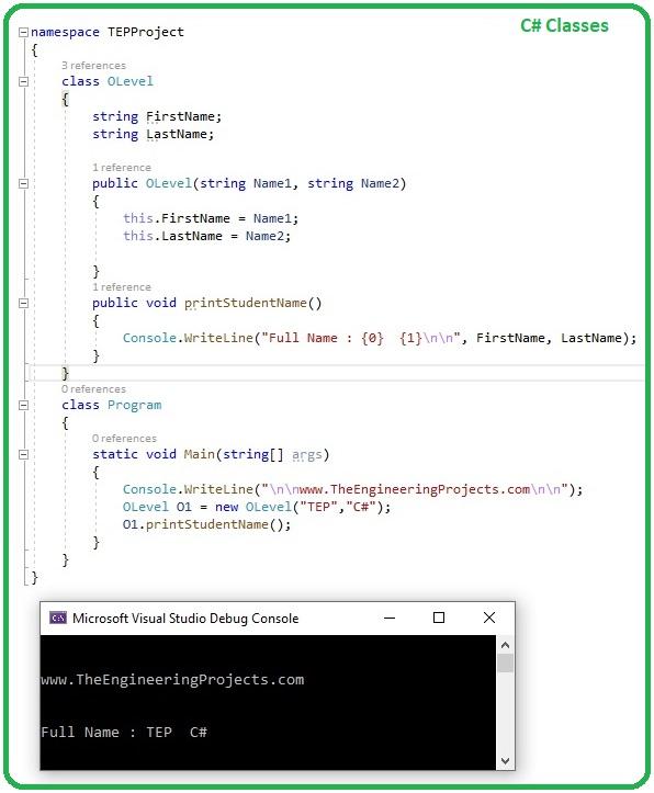 Introduction to Classes in C#, classes in c#, classes c#, c# classes