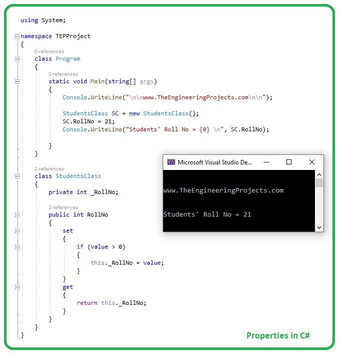 Introduction to Properties in C#, Properties in C#, Properties C#, c# Properties